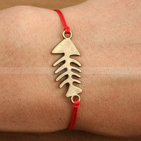 Fish bone bracelet- Adjustable fish bones bracelet