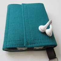 Nerd Herder gadget wallet in Songbird for iPod, Droid, iPhone, camera, earbuds, SD cards, USB, extra batteries, guitar picks,