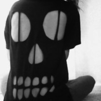 Skull Cut Out T shirt