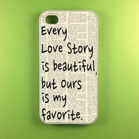 Iphone 4 Case - Our Story Iphone 4s Case, Iphone Case