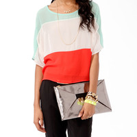 Sheer Colorblock Top