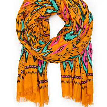 MANGO - SALE - Foulards and Neck Scarves - Ethnic print cotton foulard