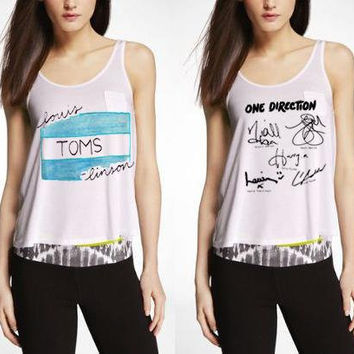 One Direction Louis TOMS-linson/Signatures/Simple But Effective Tank