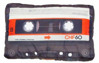Cassette Tape Retro Pillow