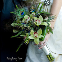 peacock bouquet