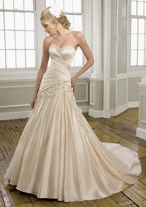 Buy Satin with Embroidery Sweetheart A Line Floor Length Gown Style 1658 , from  for $187.57 only in eFexcity.com.