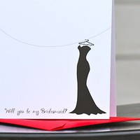 Will you be my Bridesmaid Folded Note Cards by sweetbellacards