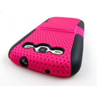 buy cheap Kickstand Mesh Hard Combo Case Cover for Samsung Galaxy S III 3 S3(PINK BLK) wholesale on China Gadget Land