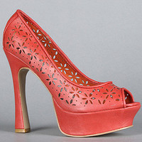 The Red Carpet IV Shoe in Coral