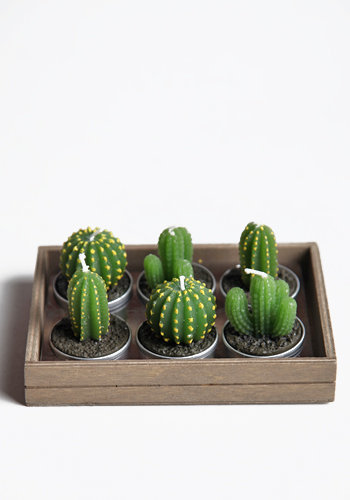 Cactus Tealight Candles - $14.00 : ThreadSence.com, Free-spirited fashion for the indie-inspired lifestyle