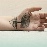 Tree Hand Tattoo