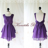 A Party - Dress - Prom Party Cocktail Bridesmaid Dinner Wedding Night Dress Powder Purple Glamorous Gorgeous Dress