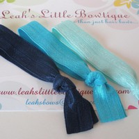 Blue Elastic Hair Ties: Set Of Thre.. on Luulla