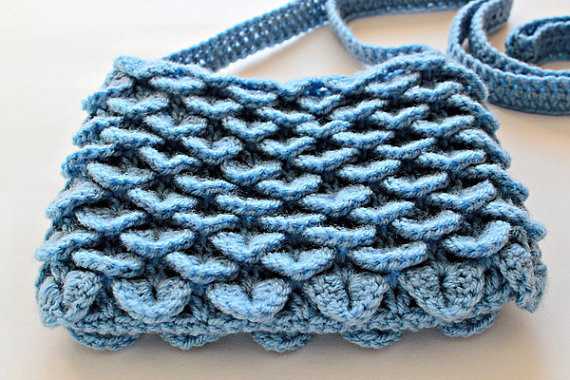 Crochet Pattern Crocodile Stitch Bag from ZoomYummy on Etsy