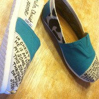 In Christ Alone demask custom painted TOMS
