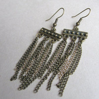 Bronze Chain Earrings