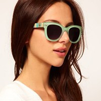River Island Aztec Wayfarer Sunglasses