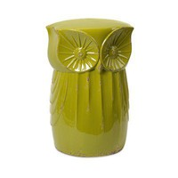 Kiwi Green Owl Garden Stool Garden Wedding and Event Decor