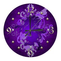 Purple Unicorn Fantasy Clock from Zazzle.com