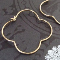 golden gothic hoops