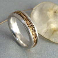 haystack ... 14 k gold and silver ring