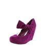 Florita02 Bow Detail Mary Jane Wedges RASPBERRY