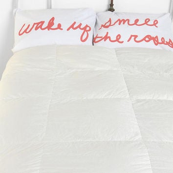 Smell the Roses Pillowcase Set- White One
