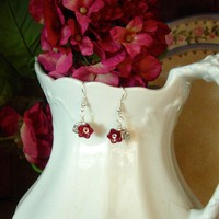 Feminine And Dainty Ruby Red Glass .. on Luulla