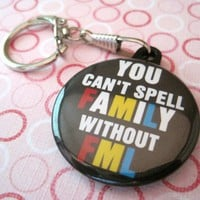 Photo Snaphook Keychain (FaMiLy) 1 1/2 inches (38mm)