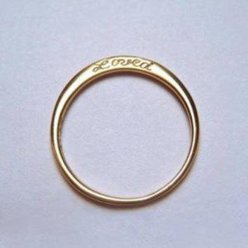 """Loved"" Ring"
