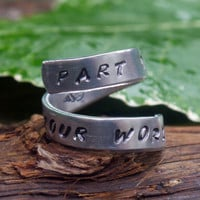 Part of Your World Little Mermaid TWIST ring