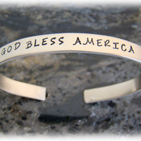 Personalized 'German Silver' Cuff Bracelet with Names on It