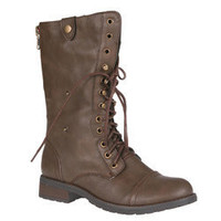 Sweet Beauty Women's 'Terra-01' Mid-calf Tan Boots  | Overstock.com