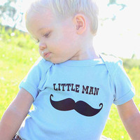 Mustache Little Man Baby Onesuit -  Infant Bodysuit