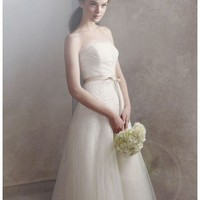 Buy Organza Gown with Fern Embroidery and Net Overlay Style VW351062  , from  for $179.28 only in Fashionwithme.com.