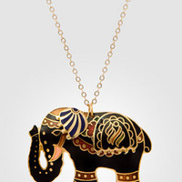Sri Lanka Fancy Elephant Necklace | Elephant Pendant | fredflare.com