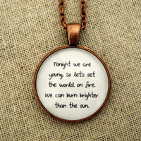 Fun We Are Young Inspired Lyrical Quote Necklace