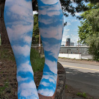 Socks By Sock Dreams  » Socks » Cloudy Sky Printed Knee Highs