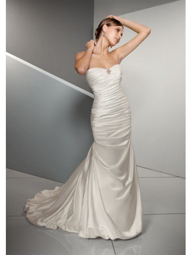 Buy Trumpet Sweetheart Floor Length Gown with Satin 4501 , from  for $139.57 only in eFexcity.com.