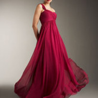 MARCHESA RASPBERRY DRESS GOWN ONE SHOULDER NEW 6 4 | eBay