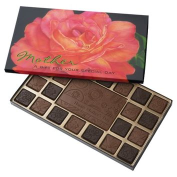 Multicolored Rose Personalized Chocolates
