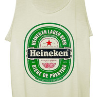 Heineken Beer Ladies Designer Soft Tank Top, Vest