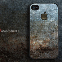 black iphone 4 case iphone 4s case iphone 4 cover classic metal  logo graphic design printing