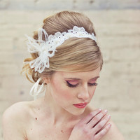 lace wedding tie headband or sash