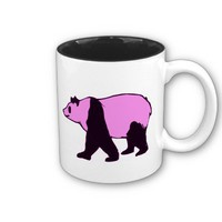The Pink Panda & Heart Mug from Zazzle.com