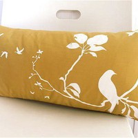 Golden Brown Flying By Rectangle Pillow
