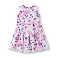 Little Lass Infant Girl's Pleated Dress - Floral