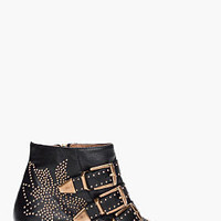 Chloe Black Studded Susan Boots for women | SSENSE