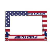 Patriotic American flag Magnetic Photo Frames from Zazzle.com