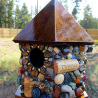 Outdoor Birdhouse Eco-Friendly Garden Art